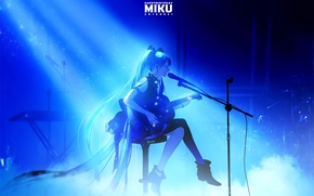 Picture girl, music, anime, art, Vocaloid