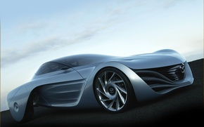 Wallpaper Grey, Mazda, The concept