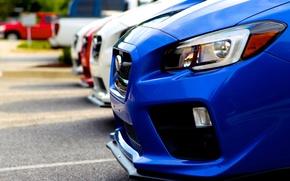 Picture Subaru, red, white, blue, wrx, sti, STI, 2014, verse