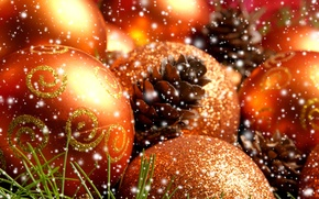 Picture needles, balls, bumps, Christmas decorations
