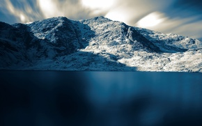 Wallpaper sea, snow, mountains