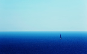 Picture the way, the ocean, sail, yacht, the vastness, blue ocean