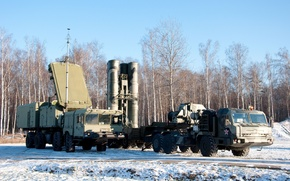 Picture star, Russia, trees, military, snow, truck, yuki, red star, Triumph, powerful, vegetation, red army, military ...