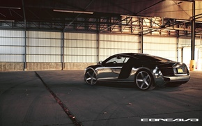 Picture Audi, Chrome, feed, CW-5, Concavo Wheels, Matte Black Machined Face