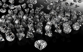 Picture PEBBLES, DIAMONDS, THE DARK BACKGROUND, DARK BACKGROUND, ROCKS, DIAMONDS
