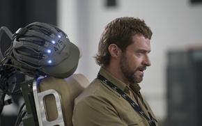 Picture actor, profile, beard, Hugh Jackman, Hugh Jackman, Chappie, The robot named Chappy