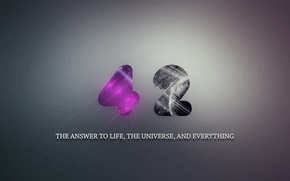 Picture The answer to the ultimate question of life the universe and, hitchhiker's guide to the …
