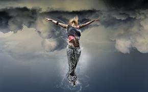 Wallpaper euphoria, girl, The sky