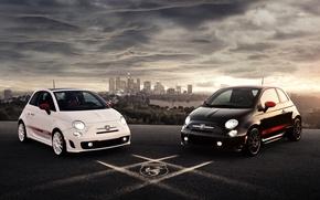 Picture white, black, car, 2012, Abarth