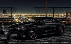 Picture Mercedes-Benz, Mercedes, Bumper, Carbon, Carbon, Tuning, 2013, Brake, Benz, CLA, Electric, Tires