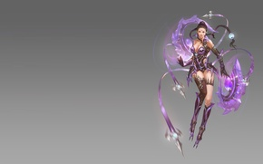 Picture girl, fantasy, weapons, the game, assassin