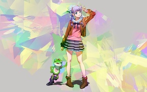 Picture frog, anime, art, girl, wizard barristers