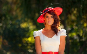 Picture look, girl, hair, hat, piercing