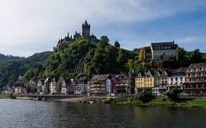 Picture Germany, Germany, castle, the river Moselle, Moselle River, Cochem, building, promenade, Cochem
