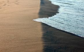 Picture sand, wave, foam, surf