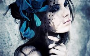 Picture beauty, veil, Beauty, view