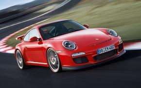 Picture 911, 997, Porsche, Porsche, GT3, the front, GT3.red