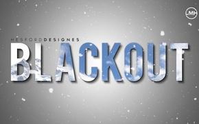 Picture Photoshop, Mountain, Snow, Wallpaper, Blackout