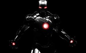 Picture dark, robot, background, marvel, comics, iron man, dark iron man