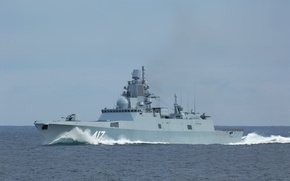 "Picture ship, Navy, ""Admiral Gorshkov"", Guard, on the go"