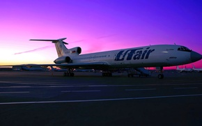 Picture the sky, sunset, engine, the platform, Parking, airport, the plane, sky, aircraft, sunset, chassis, airport, …