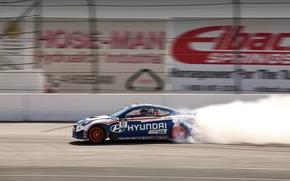 Picture tuning, smoke, drift, Hyundai, track, Genesis, Hyundai, Coupe RMR