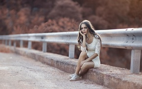 Wallpaper bridge, Turn Around, legs, Alessandro Di Cicco, dress