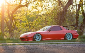 Picture Mazda, Red, RX-7