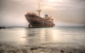 Picture sea, background, ship