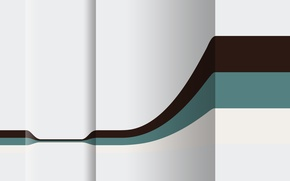 Wallpaper concavity, plane, line, the bulge