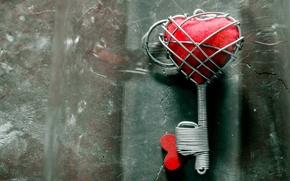 Picture love, heart, wire, Valentine's day, key, hack