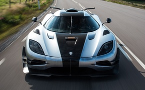 Picture speed, road, supercar, hypercar, auto, the front, machine, Koenigsegg, One:1, wallpaper