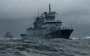 Picture ships, Germany, Hamburg, combat, frigates, Navy, Baden
