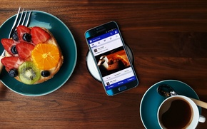 Picture Android, Galaxy, Coffee, Samsung, Fruit, 2015, Smartphone, Food