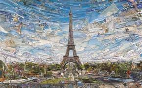 Picture Eiffel Tower, Vik Muniz, Postcards from Nowhere, contemporary art