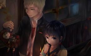 Picture darkness, doll, Ghost, Art, candle, students, Kisaragi Academy, But The Young Kishinuma, corridor, Ayumi Shinozaki, …