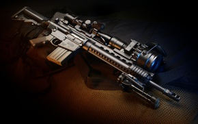 Picture weapons, gun, weapon, carabiner, automatic, hd wallpaper, bipod, assault rifle, Larue Tactical, imager