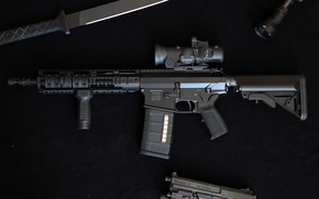 Picture gun, weapons, knife, flashlight, Automatic rifle, DMR, OA-10