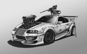 Picture design, machine, vehicle, post apocalyptic