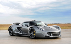 Picture the sky, supercar, the front, Hennessey, Venom GT, Hennessy, Venom GT