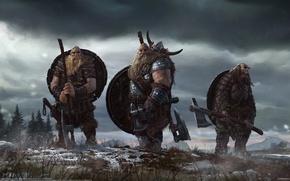 Picture men, the Vikings, Leolas Fargue