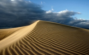 Picture sand, the sky, clouds, desert, heat
