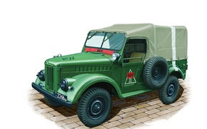 Picture model, art, car, plant, 4x4, high, patency, Gorky, Of the Soviet Union., created, military, designers, …