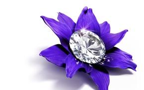 Picture decoration, brilliant, dragocennyu, cvetok, kamen