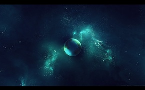 Picture space, stars, nebula, planet, space