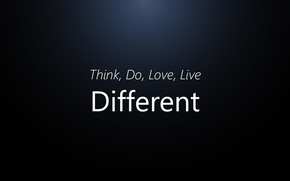 Picture Love, Think, Live, Diffrerent