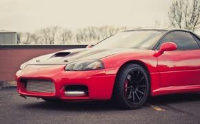 Picture Mitsubishi, Parking, red, red, Mitsubishi, 3000GT