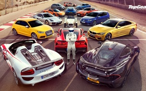 Picture Top Gear, Wallpaper, Stig, Supercars, Volkswagen Golf, Porsche 918, BMW M4, McLaren P1, Jaguar F-Type, …