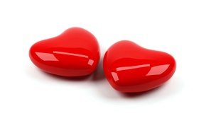 Picture love, heart, pair, red, two, shiny