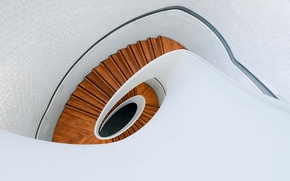Wallpaper wood, spiral, staircase, architecture, stairs